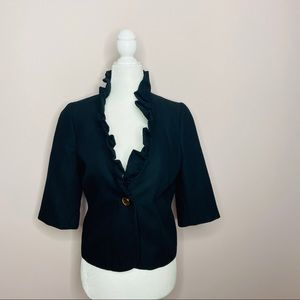 Milly Jacquard Cropped Jacket